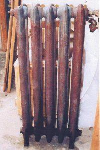 decapage de radiateur en fonte
